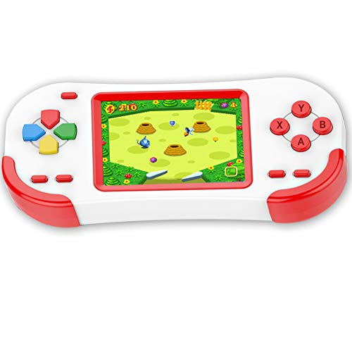 Bornkid 16 Bit Handheld Spielekonsole für Kinder und Erwachsene mit Integriertem 220 HD Videospiel 3,0 Zoll Seniors Electronic Handheld Spiele Jungen Mädchen Geburtstags Geschenk