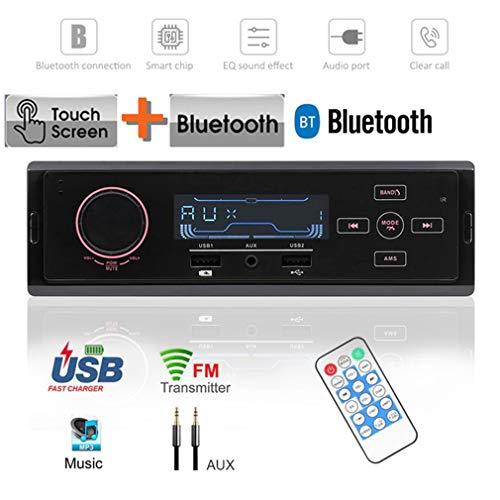 CARDVR Auto-MP3-Player Bluetooth/Touch Control/UKW/MW-Stereo-Radio-Tuner USB-Aufladung/Fernbedienung/AUX-Eingang 12V mit EQ-Soundeffekt