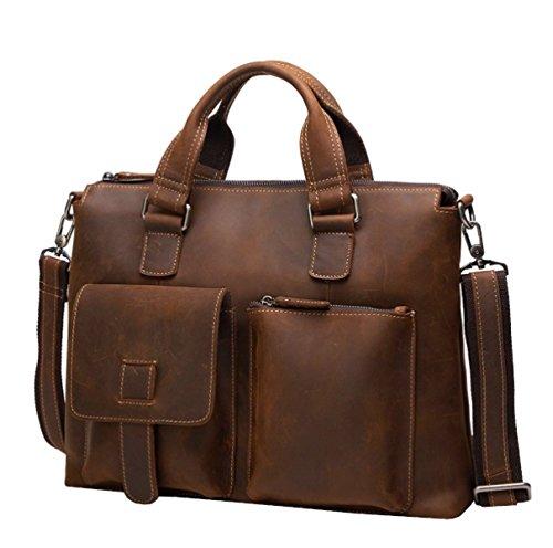 LAIDAYE Handtaschen-Retro- Geschäfts-Beutel Der Männer Großer Kapazitäts-Männer Beutel-Spielraum-Beutel-schmaler Querbeutel-Aktenkoffer 3