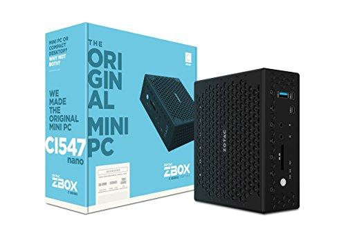 ZOTAC ZBOX CI547 nano mini-PC Barebone (Intel Core i5-7200U dual-core, Intel HD Graphics 620, lüfterlos)