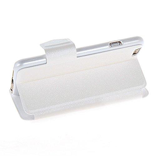 MOONCASE Etui Housse Cuir Portefeuille Case Cover Pour Apple iPhone 6 Doré Blanc 02
