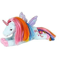 Pequeño Peluche Unicornio Arcoiris para Abrazar Serie Paraíso Unicornio Universo 22cm Die Spiegelburg