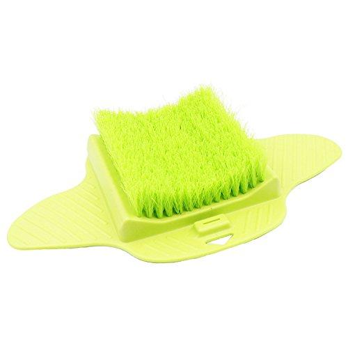 TOOGOO Peeling Borsten Fuesse Reiniger Scrub Massage Spa fuer Dusche Hangable Scrub Pad (gruen) (Bein-massagegerät Luft)