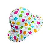 Cappello da Bambina Estivo Cappello da sole Cappello Boonie in Cotone Pieghevole (Puntini colorati, 48CM)