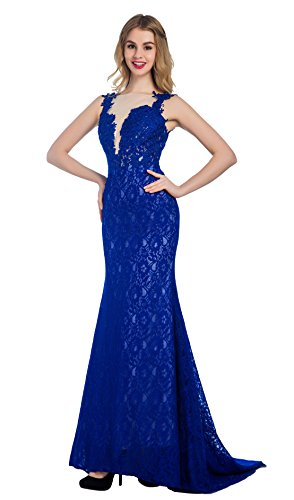 Bridal_Mall - Robe de mariage - Mermaid - Femme Bleu roi