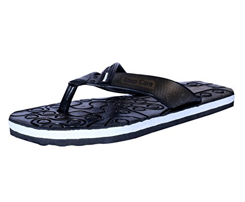 IndiWeaves Mens Flip Flop House Slipper And Hawaai Chappal_Black_Size-7  available at amazon for Rs.199
