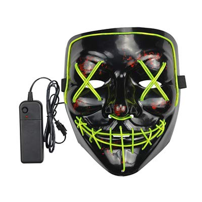 HITSAN INCORPORATION EL Light Mask Up Funny Mask from The Purge Election Year Great for Festival Cosplay Halloween Costume Year Cosplay
