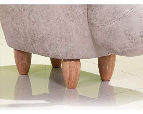 Sgabello Imbottito : Tao poggiapiedi sgabello per scarpe in legno massello sgabello