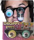 PARTY DISCOUNT Droppy Eyes ET-Brille mit Spiralen und herausfallenden Augen - Scherzbrille