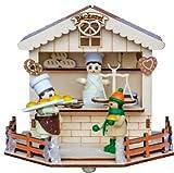 yanka-style Leuchter Weihnachtsmarktstand Bäcker mit LED - Beleuchtung aus Holz ca. 15 x 14 x 13 cm Weihnachten Advent Geschenk Dekoration (93230b)