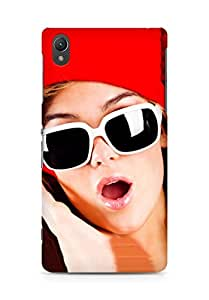 Amez designer printed 3d premium high quality back case cover for Sony Xperia Z2 (Santa Girl with Goggle)
