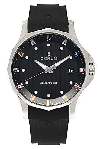 Corum ADC 47 Admiral's Cup Automatic Titanium Mens Watch Calendar Rubber Strap 403.100.04/F371 AN10