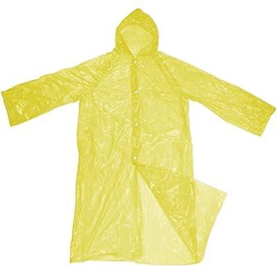 10 Stück Einmal-Regenmantel in Einheitsgröße mit Kapuze Farbe: gelb von BB Sport von BB Sport - Outdoor Shop