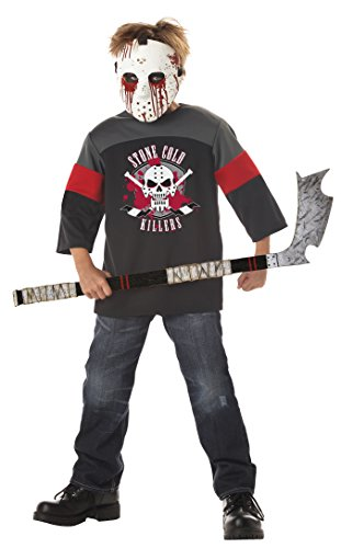 Deluxe Child XL (12-14) Blood Sport Costume with Hockey Stick Halloween Fancy (Kostüme Sport Blood Kinder)