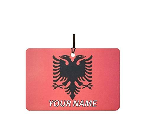 Deodorante per Auto Personalizzato con La Bandiera Albania F