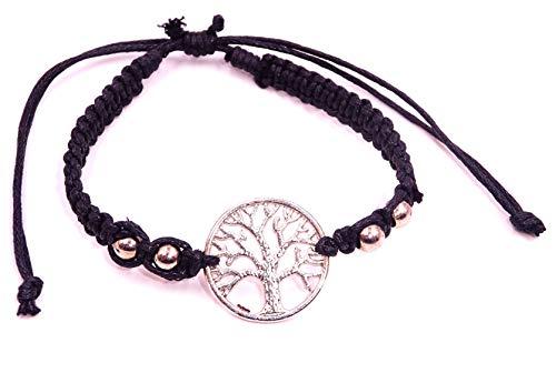 BALI PAPAYA Armband, brasilianisch, Freundschaft, Glücksbringer, Schmuck, Handwerkskunst, Perlen Baum des Lebens, Schwarz - Brasilianischer Schmuck