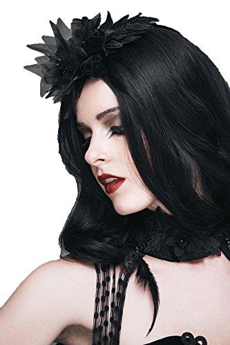 (Gothic Damen Mädchen Schwarz Blumen Retro Charming Haarnadel Steampunk Lady Elegante Klassische Haarschmuck Für Schönheiten)