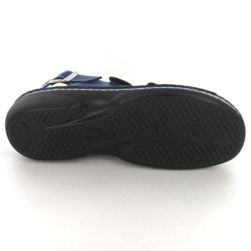 Finn Comfort Womens Saloniki 2557 Leather Sandals Blau