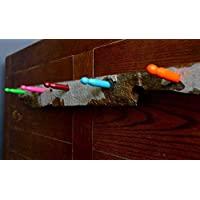 the DRIFTER coat rack! Coat or Hat Rack Handmade from hardwood foraged driftwood with brightly coloured wooden pegs as hooks.