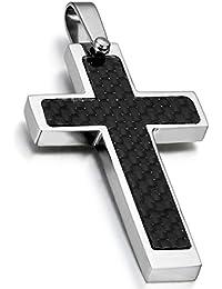 4095931459fe Rosarios para hombre Collar Cruz Colgante Acero Inoxidable Collar Hombre  Budista Religiosas Buena Suerte Día del