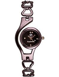 Fastrend Quartz Ladies Watch - Stainless Steel Analog Watch For Women - Round And Black Wrist Watch