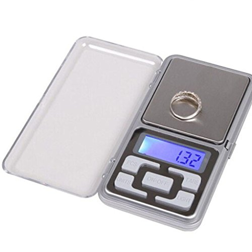 Digital Scale, HARRYSTORE Mini 0.01g Schmuck Balance Gewicht Gram LCD Bildschirm Elektronische Waage (100g)
