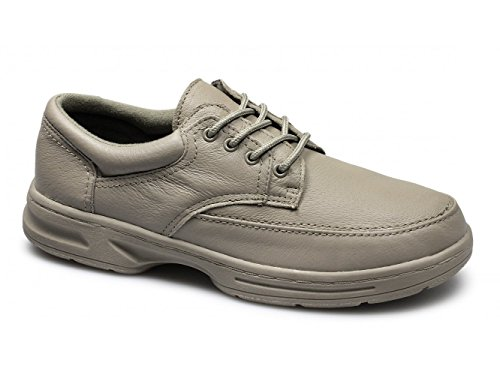 Dr Keller BRIAN 3 Hommes Laçage Cuir Chaussures Pied Large Taupe Taupe
