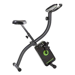 Tunturi Cardio Fit B20 X bike heimtrainer fahrrad klappbar / Fitnessfahrrad / hometrainer fahrrad trainer mit LCD-Bildschirmanzeige und Tablethalterung – Schwarz