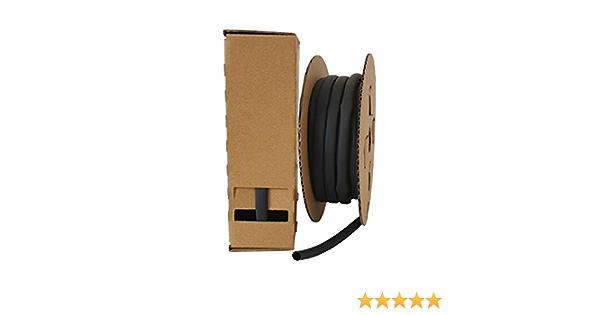 0,5 mm in perfekter Spenderbox f/ür Werkstatt KFZ beliebig abschneidbar. Arbeitsplatz Outdoor Schrumpfschlauch Box 3:1 schwarz halogenfrei in der Box 1,5 mm