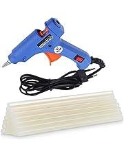 CETC PVC 40 W Hot Melt Glue Gun with 10 Sticks Triple Power Rapid Heating and Quick Melt (Blue)