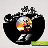 Gravinci.de Schallplatten-Wanduhr Formel 1