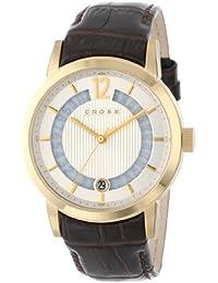 Cross CR8006-04 - Reloj analógico para hombre, correa de cuero color marrón