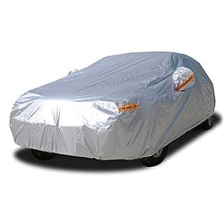Kayme autoabdeckung vollgarage wasserdicht Sonnenschutz Stoff XXL für Winter & Sommer Indoor Outdoor Größe (490x185x150CM) Passend für Limousine 3XL