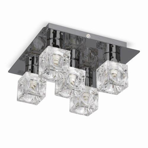 plafonnier-moderne-carre-finition-en-chrome-fonce-avec-5-glacons-clairs