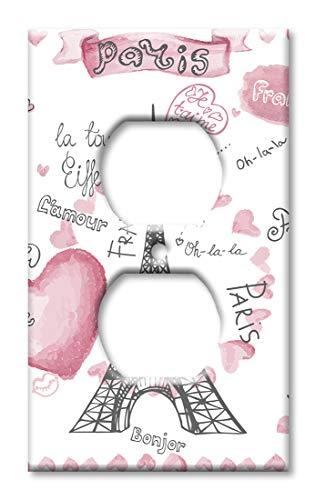Paris France Wandplatte/Schalterplatte Steckdose Mehrfarbig -