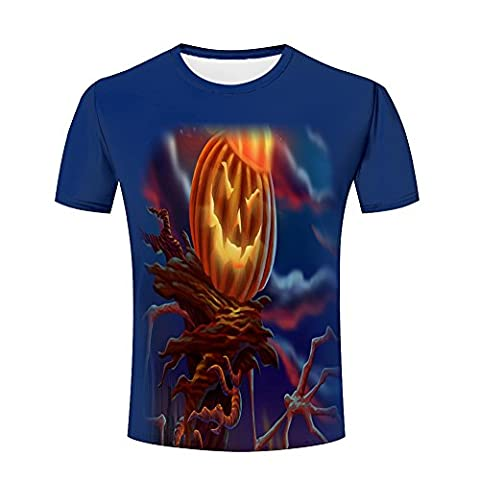 Men Homme 3D T-Shirt Pumpkin Zombie Printed Summer Unisex Funny Tees Shirts XL