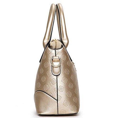 MEI La Signora Borsa Tracolla In Pelle Messenger Bag PU Gold