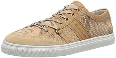 Tommy Hilfiger Tina 2Z, Chaussons Sneaker Femme - Beige (Natural 104), 39 EU