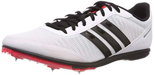 adidas Distancestar Scarpe da Atletica Leggera, Uomo, Bianco (Ftwr White/Core Black/Shock Red Ftwr White/Core Black/Shock Red), 44 2/3 EU (11.5 UK)