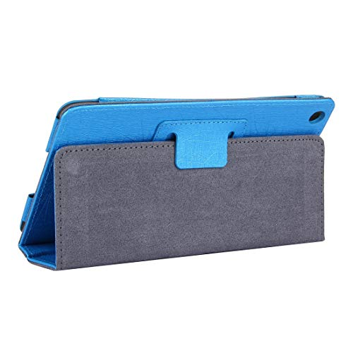 WANTONG Tablet PC Skin Hülle for Lenovo IdeaTab A8-50 / A5500 Stahldraht Textur Magnetic Horizontal Flip Ledertasche mit Halter (Gold) (Farbe : Blue)