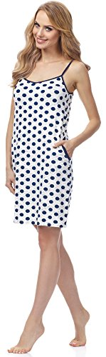 Merry Style Camicia da Notte per Donna MSFX593 Blu scuro