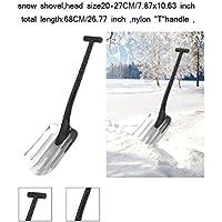 NJXM Pala de Nieve, Nieve Pala Coche retráctil, Remoción de Nieve Plegable Herramienta para el Coche, Acampar al Aire Libre, jardín y Actividades al Aire Libre,Plata