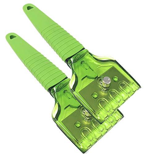 MGE - Rascador Vitrocerámicas y Placas de Inducción - Mango de Silicona - Set de 2 - Verde