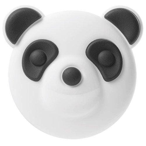 Bone Collection Austauschbares Silikon-Pin-Abzeichen, niedliche Tiere Comicfiguren 3D-Design-Ersatzknopf Bubble-Etuis/Powerbank/Kordel/Kabeltasche, Charm-Serie (Panda)