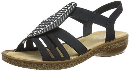 Rieker Damen 628G6-14 Geschlossene Sandalen, Blau (Pazifik 14), 40 EU