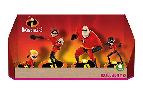 Bullyland 13289 - Spielfigurenset, Walt Disney Die Unglaublichen 2 - Set mit 5 Figuren