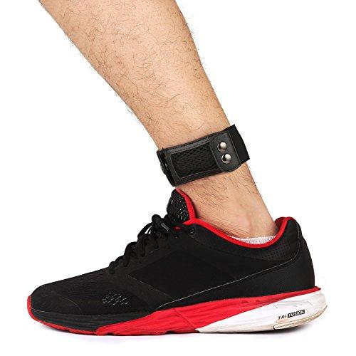 baaletc tobillo Wrap banda para Fitbit Flex/2cremallera, Fitbit, Fitbit alta, Fitbit one, Garmin Vivofit 2/3/JR actividad rastreadores–negro, Tapa versión