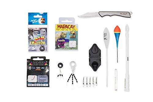 MiRoeFishing Forellenset Forelle - Angelset - spezielle Produkte für div. Angelmontagen und Ruten. Fischfang Forellenbox. Pose - Sbirolino - Baitformer - Wirbel - Haken etc. im Sortiment