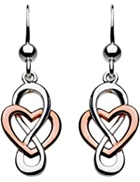 88df45d55 Heritage Sterling Silver Celtic Looped Heart Drop Earrings