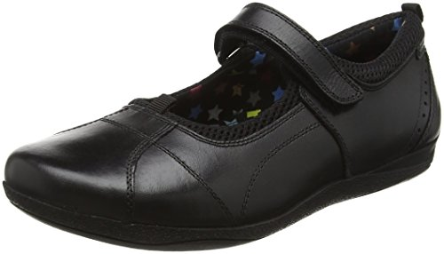 Hush Puppies Cindy Snr, Mary Jane fille Noir